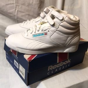 VTG Reebok Classics White High Top 1999 Brand New